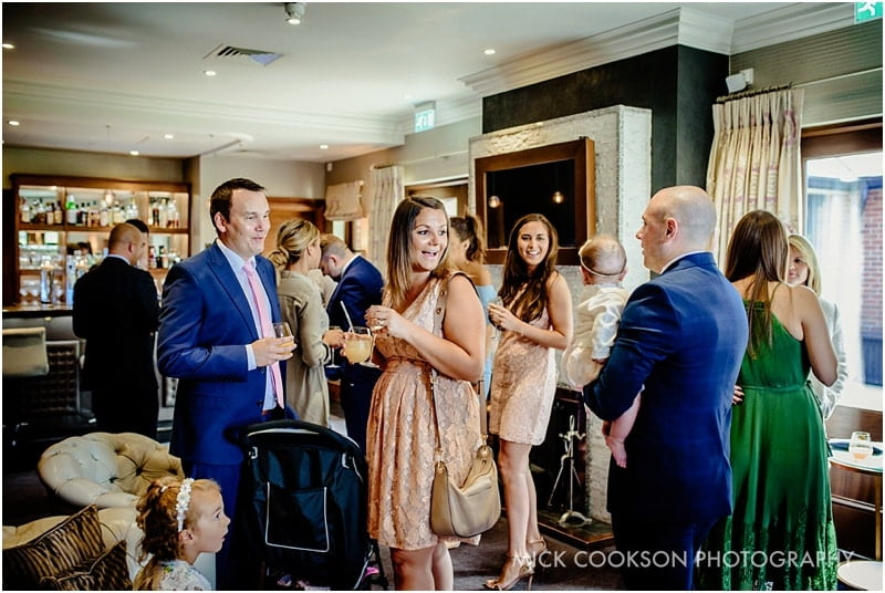 wedding guests at northcote