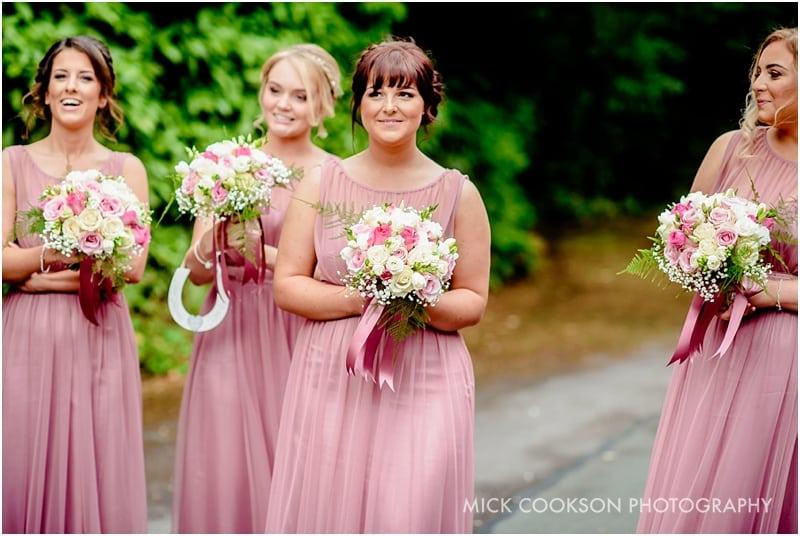 bridesmaids at a lancashire wedding