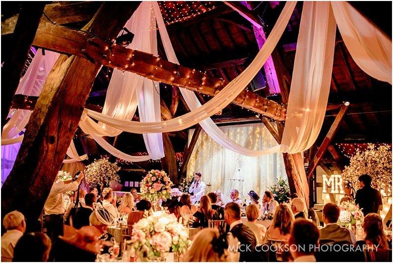 rivington hall barn wedding speeches