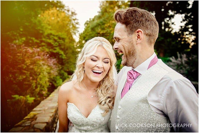 bride and groom photo at rivington hall barn