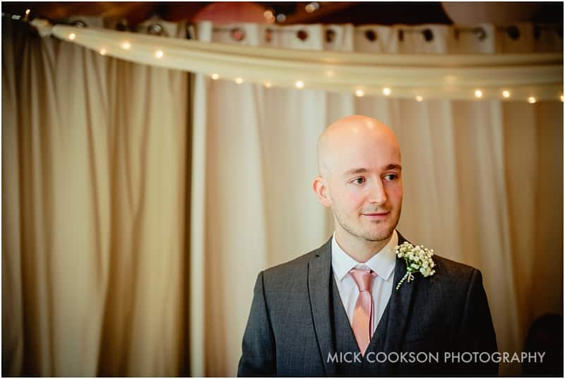 best man at a styal lodge wedding ceremony