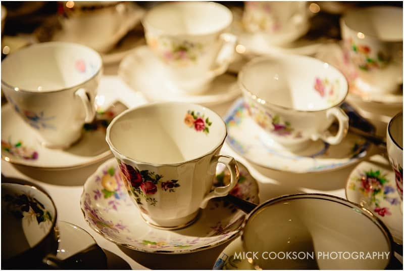 china tea cups at a wedding