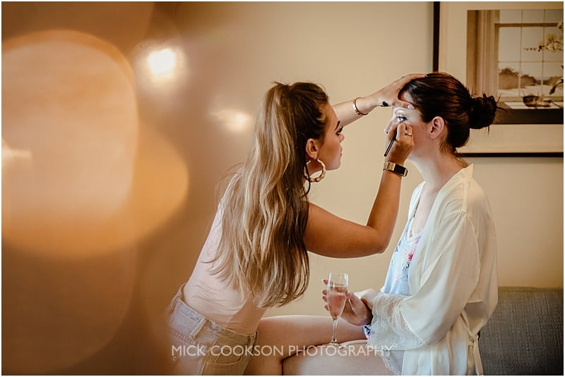 bridal preparations at stirk house
