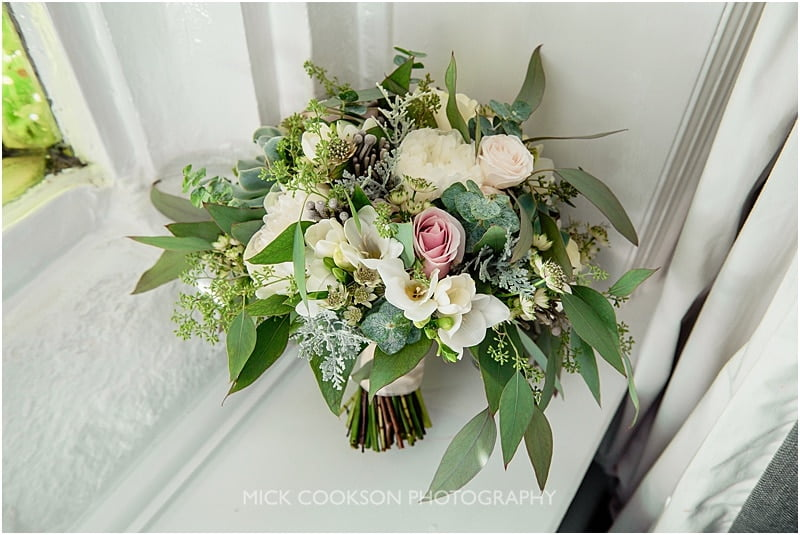 bridal bouquet at a stirk house wedding