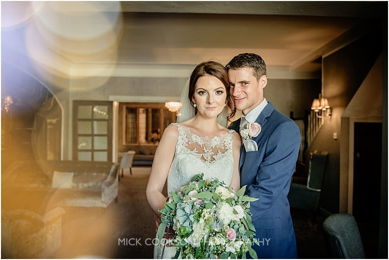 bride and groom at stirk house