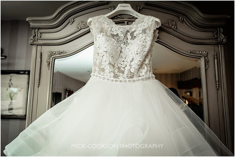 wedding dress at the shireburn arms