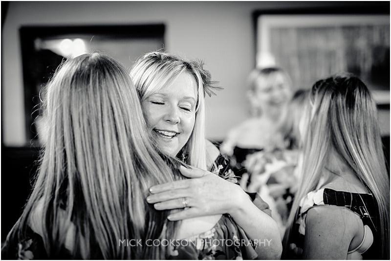 guests hugging at the shireburn arms
