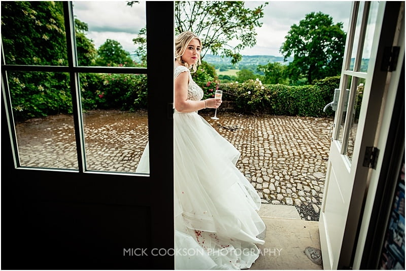 bride outside the shireburn arms