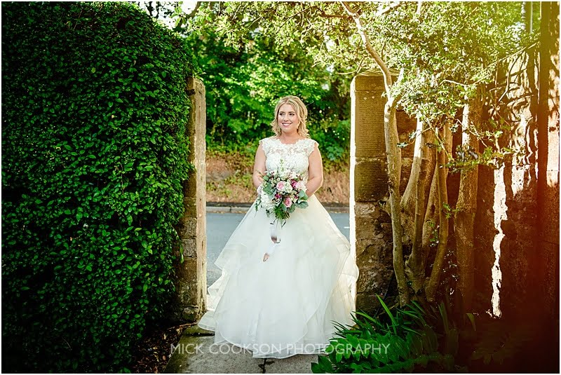 happy bride at the shireburn arms