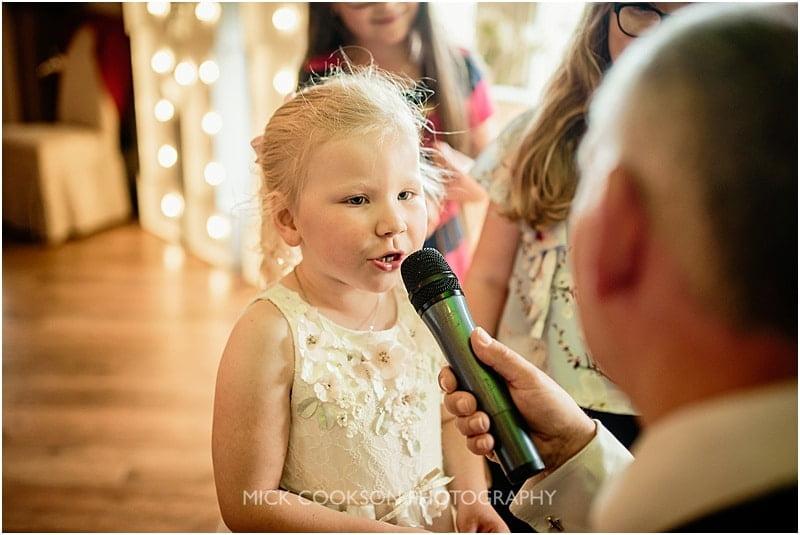 flowergirl sings karaoke