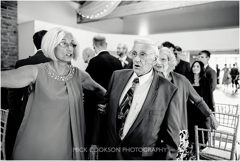 grandad at a wedding