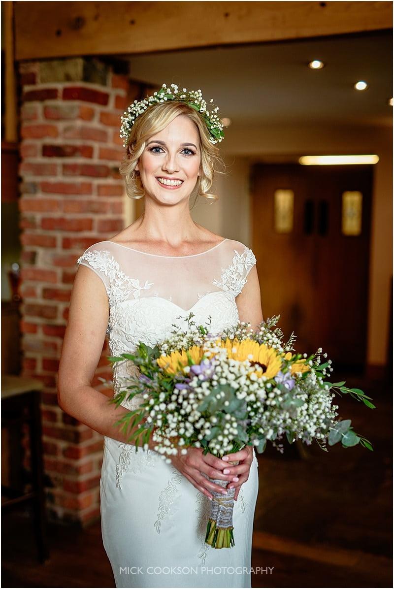 stunning bride at charnock farm