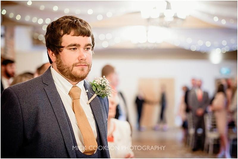 nervous groom at charnock farm