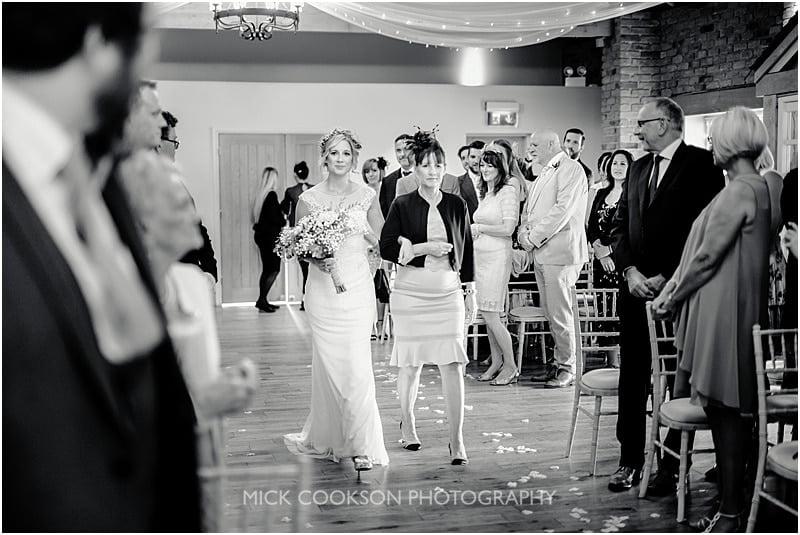 the bride at charnock farm wedding