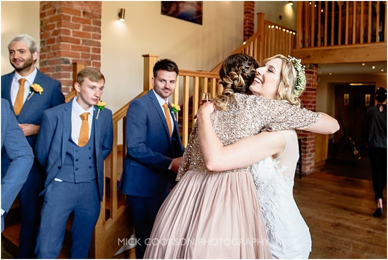 hug the bride at charnock farm
