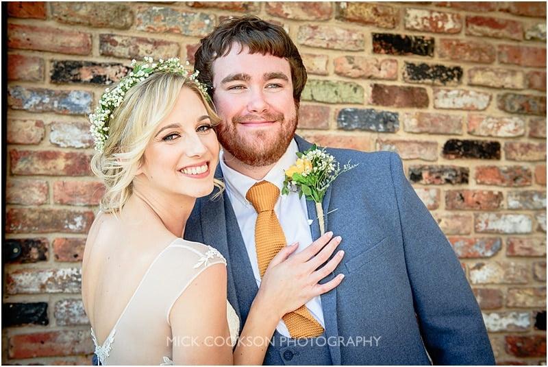newlyweds at charnock farm