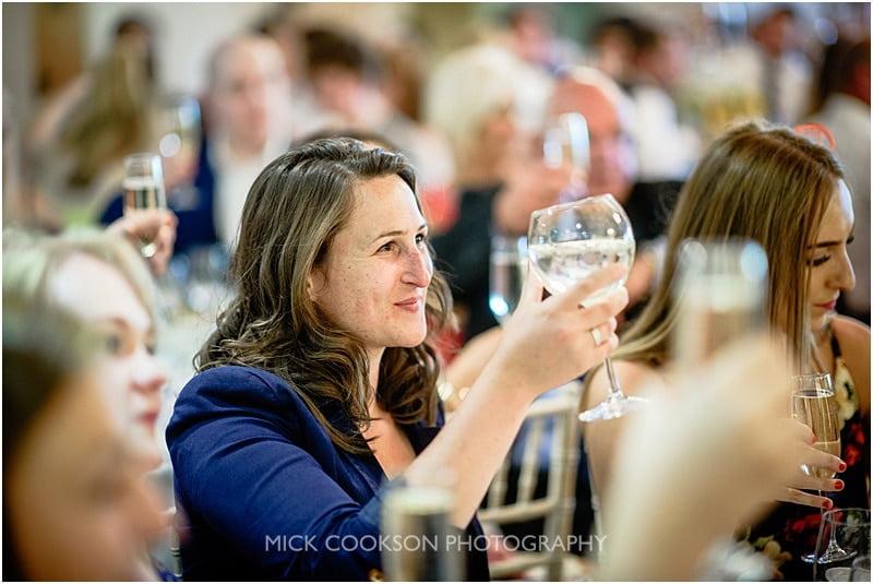 wedding toasts at charnock farm