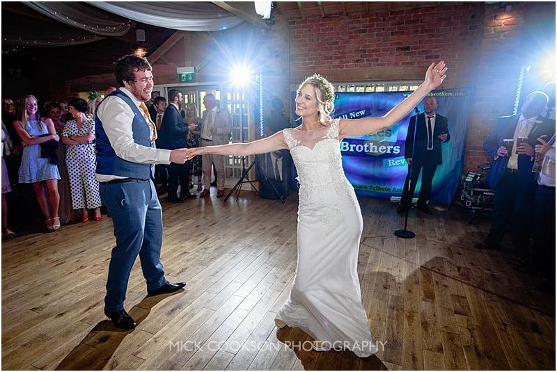 first dance at a charnock farm wedding