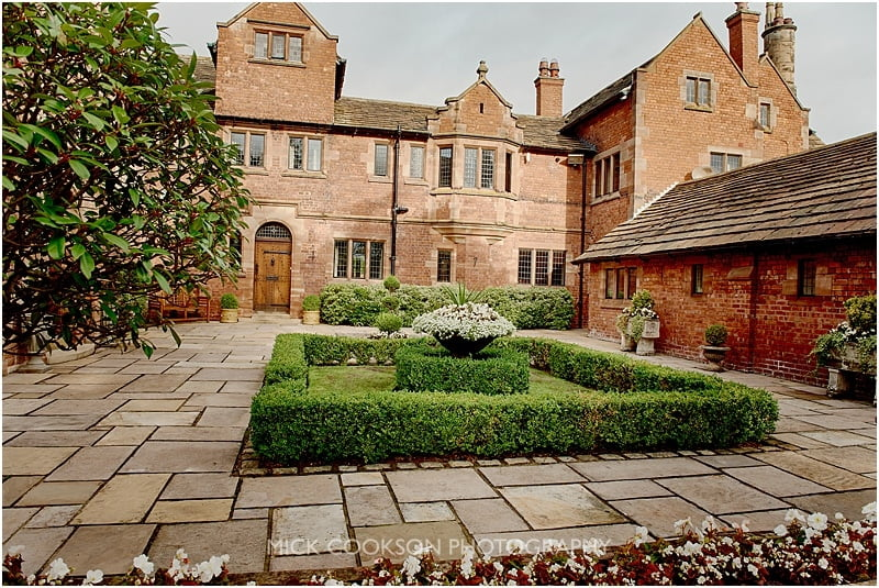 colshaw hall wedding venue courtyard