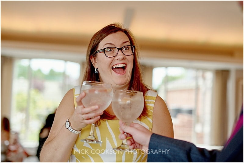 large gin cocktails at a wedding