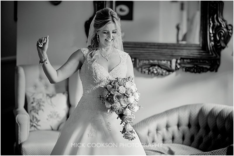 natural photo of a bride at colshaw hall