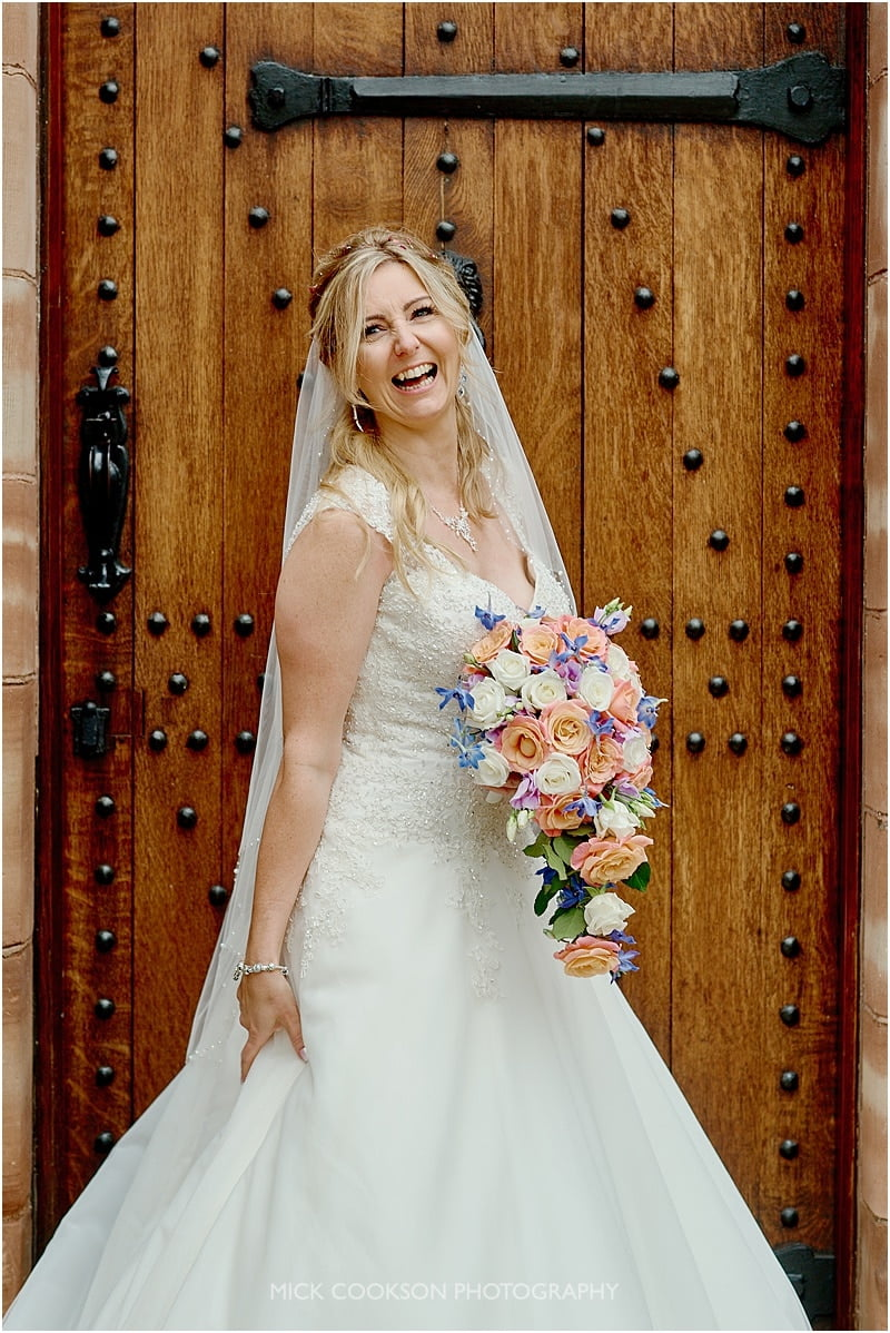 colshaw hall wedding photo of a bride