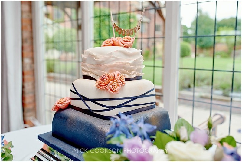 wedding cake at a colshaw hall wedding