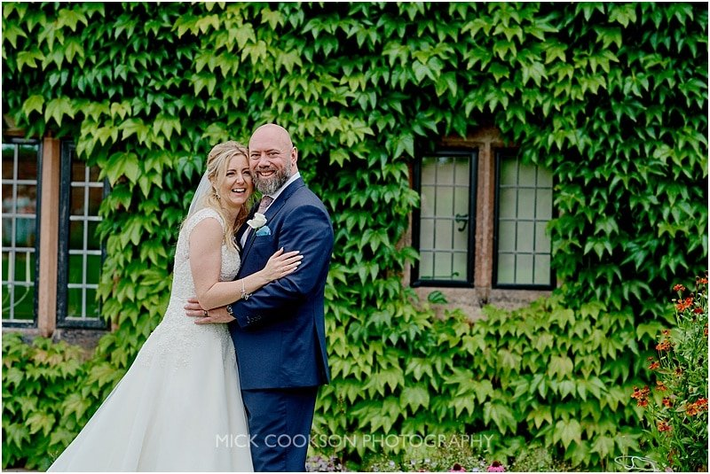 bride and groom photo at colshaw hall