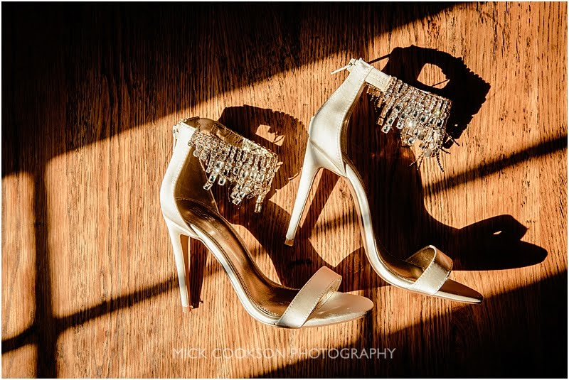 stunning wedding shoes at eaves hall
