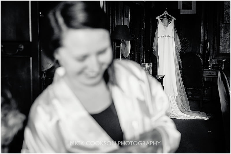 black and white documentary wedding photo