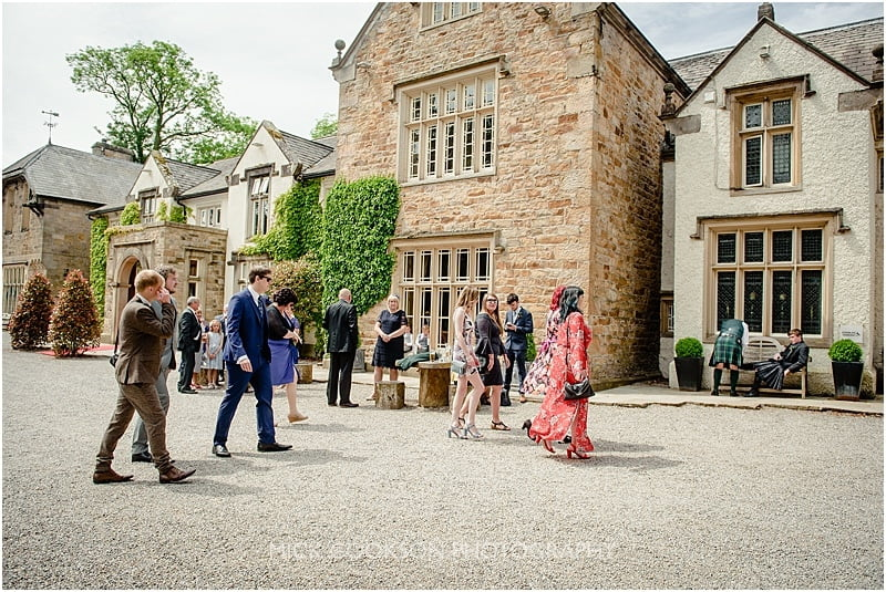 wedding guests at a mitton hall wedding