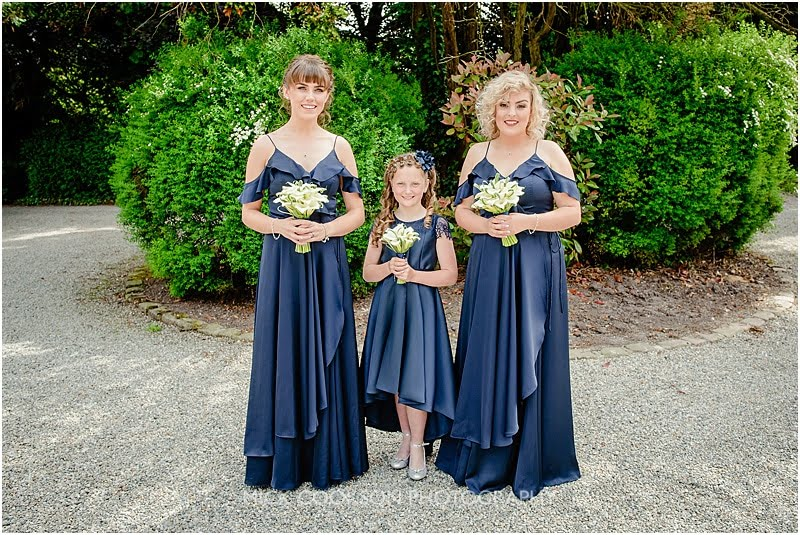 bridesmaids at a mitton hall wedding