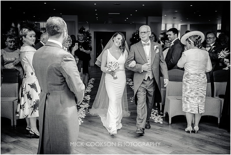 emotional bride at her mitton hall wedding