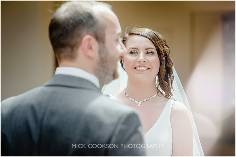 stunning bride at her mitton hall wedding