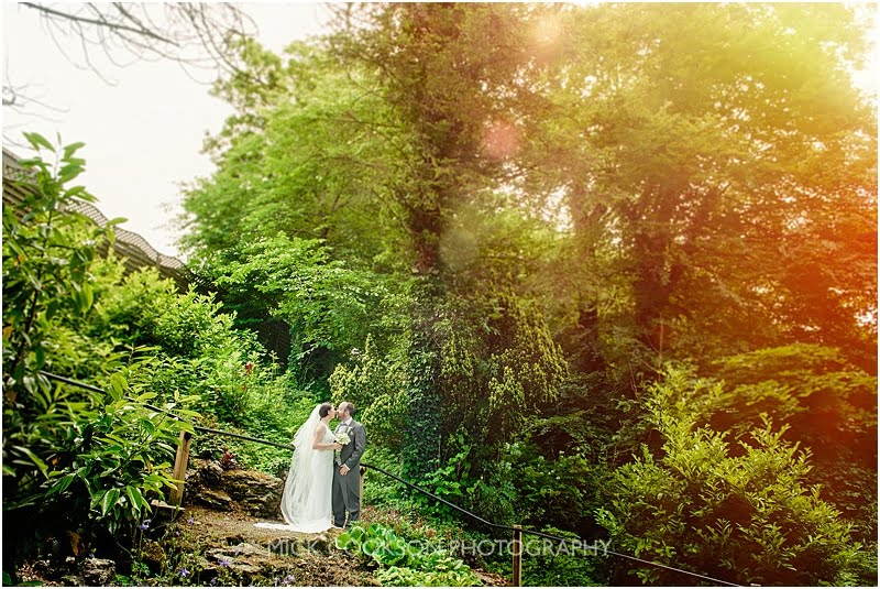 bride and groom photo at a mitton hall wedding