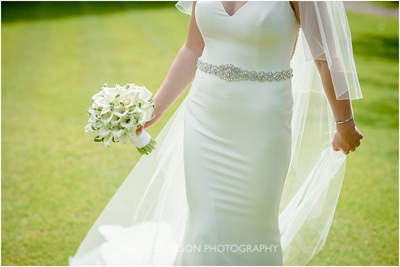 stunning wedding dress at a mitton hall wedding