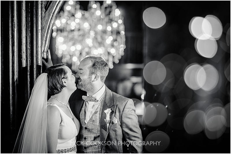 bride and groom photo at mitton hall