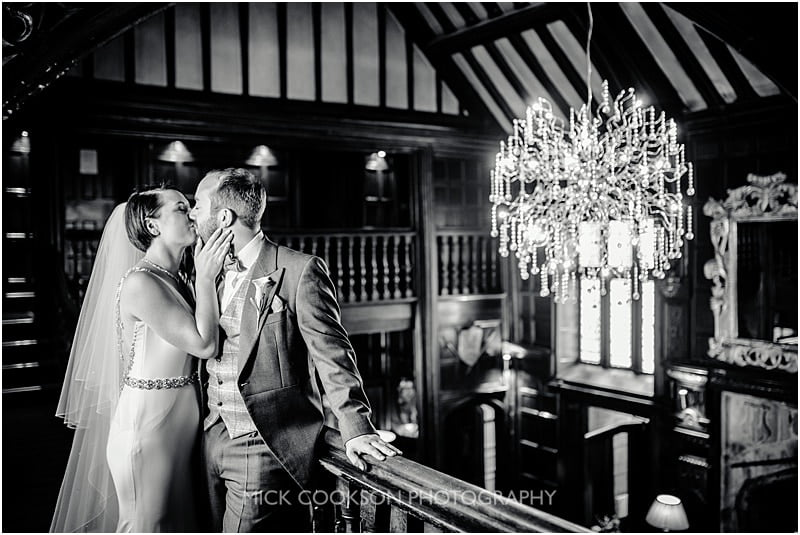 classic bride and groom photo at mitton hall