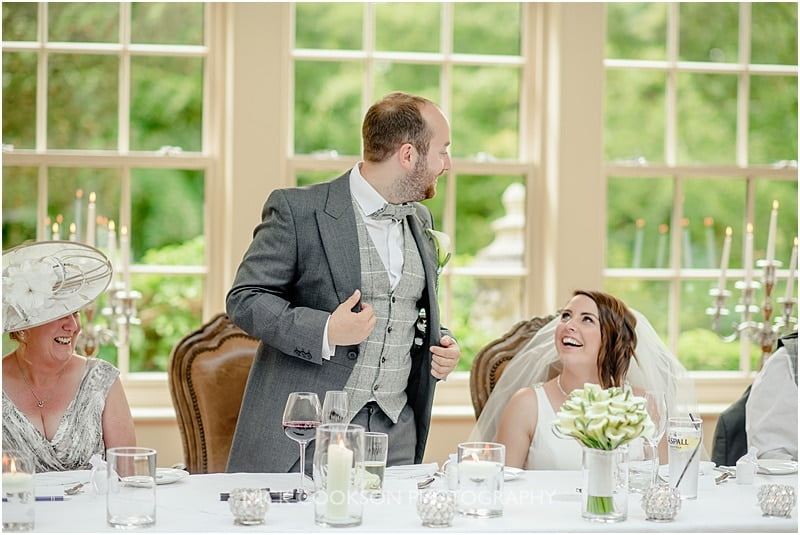 groom speech at a mitton hall wedding
