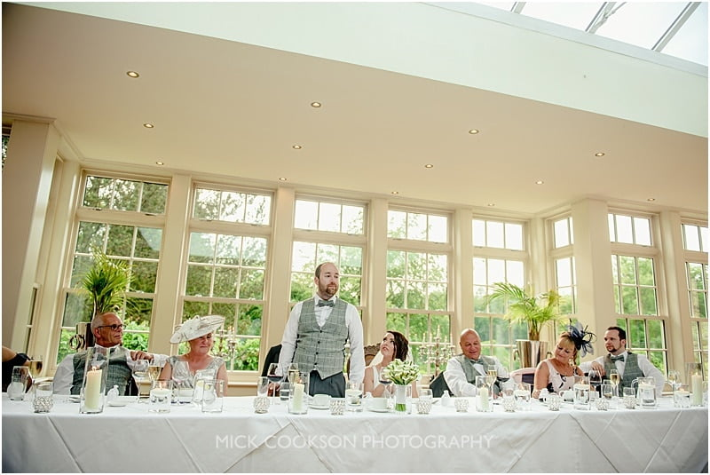 groom's speech at a mitton hall wedding
