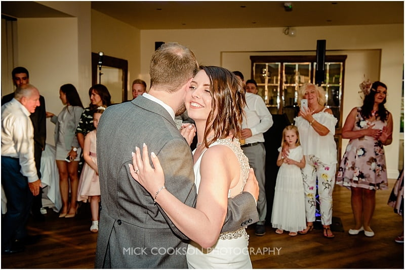 dancing at a mitton hall wedding