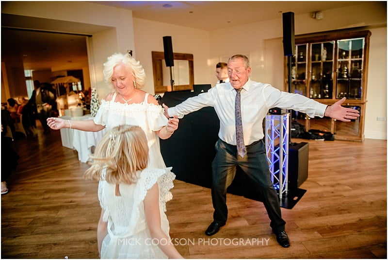 dad dancing at a mitton hall wedding