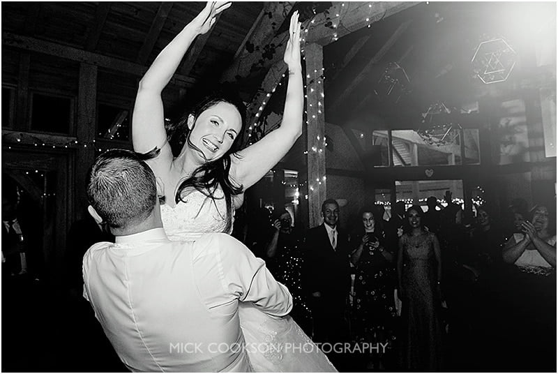 bride lifted during the first dance