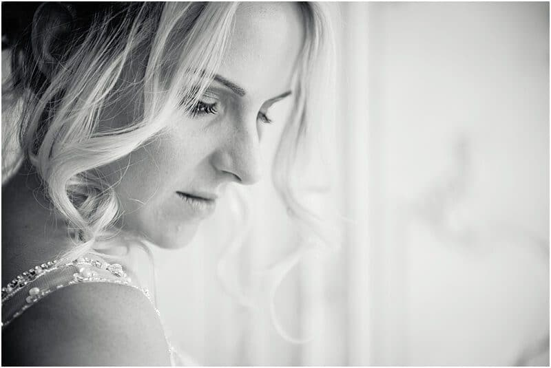 stunning bride photo at eaves hall taken by manchester wedding photographer mick cookson