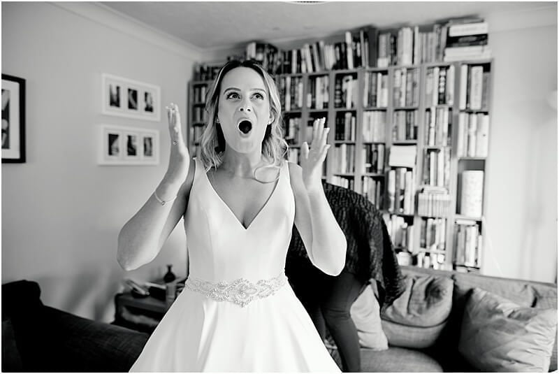 bride realises she's getting married in an hour taken by manchester wedding photographer mick cookson