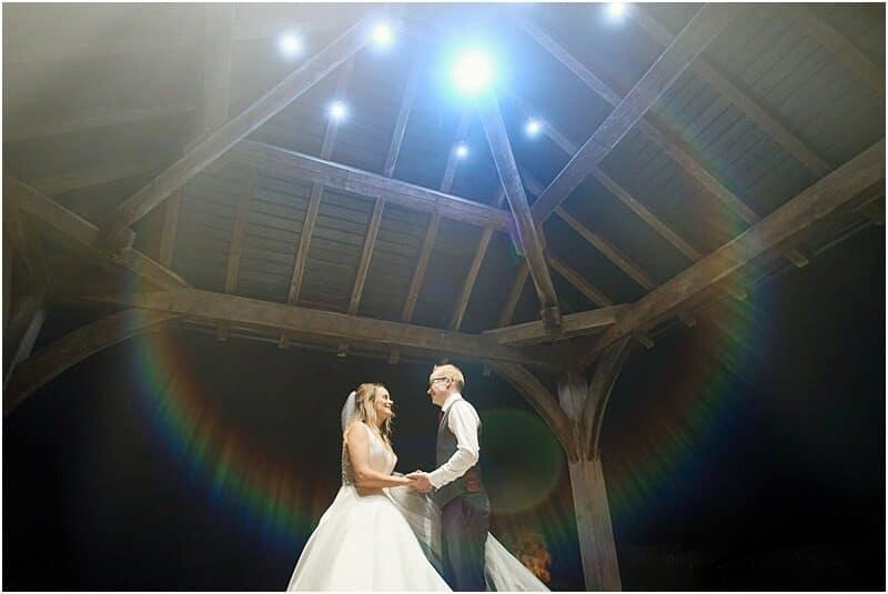 unique wedding photo at sandhole oak barn