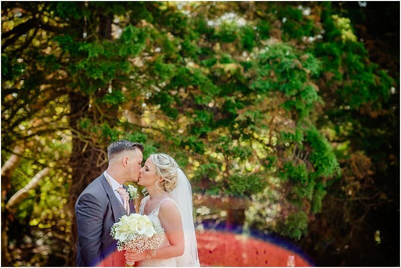 bride and groom wedding photo at eaves hall