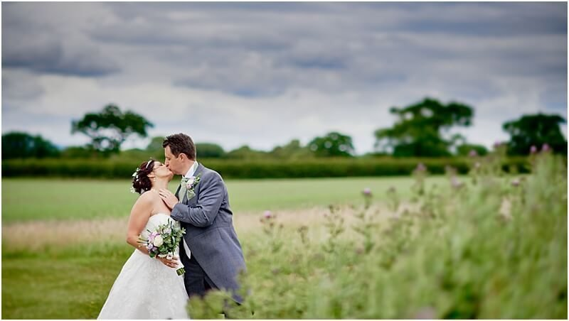 classic wedding photo at beeston manor