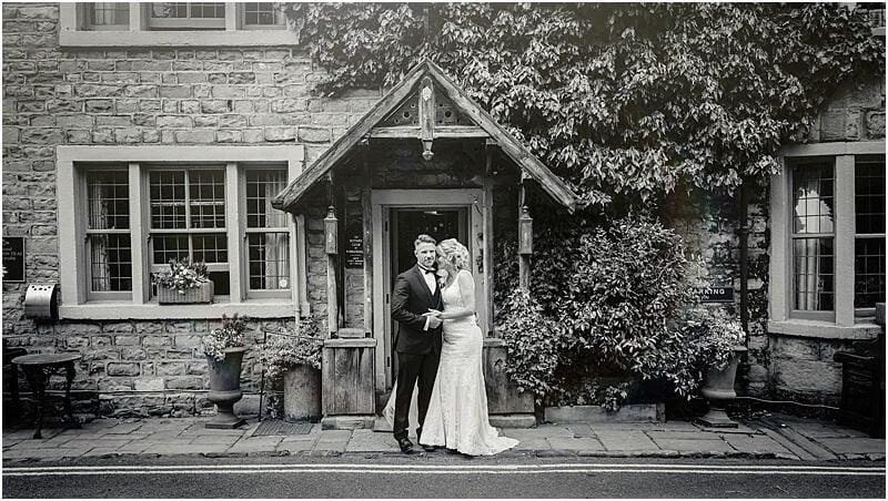 stylish wedding photo at the spread eagle sawley