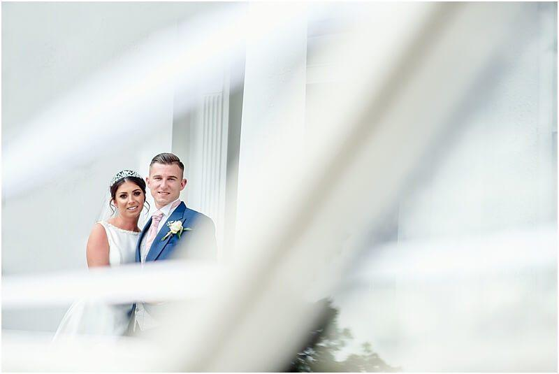stylish bride and groom photo at the deanwater hotel